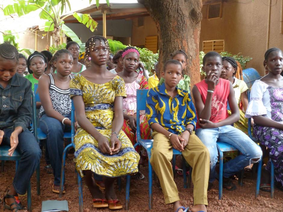 beursleerlingen uit Bobo Dioulasso