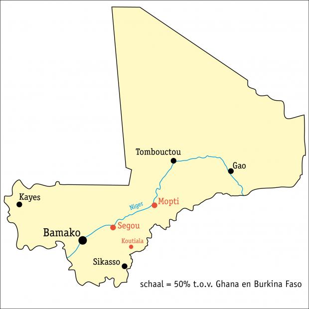 V!VE l'Initiative kaart Mali